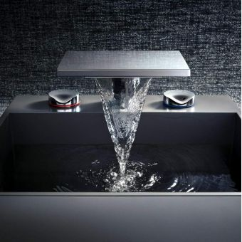AXOR Massaud 3-hole Basin Mixer with Pop-up Waste