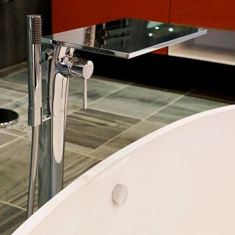AXOR Massaud Floor Standing Bath Mixer Tap with Shower Handset - 18450000