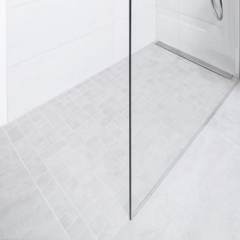 wedi Fundo Plano Linea Shower Base with Waste