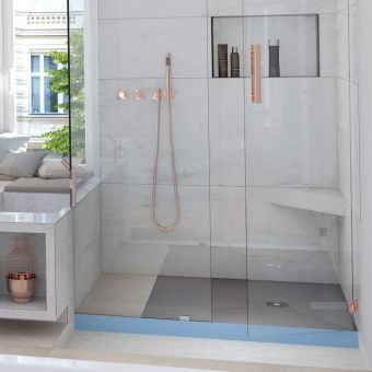 wedi Fundo Integro Shower Base with Waste - 075900003