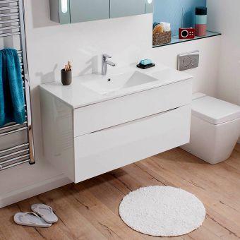 Bauhaus Glide II Wall Hung Vanity Unit and Ceramic Basin