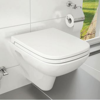 Vitra S20 Wall Hung Toilet with Toilet Seat