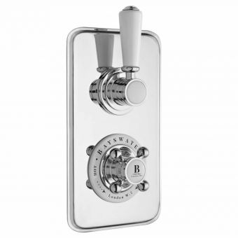 Bayswater Thermostatic Concealed Shower Valve for 1 Outlet - White and Chrome
