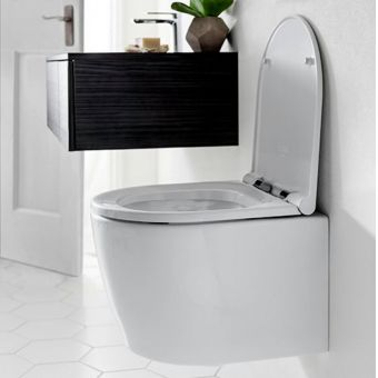 Crosswater Pier Compact Wall Hung Toilet with Soft Close Seat