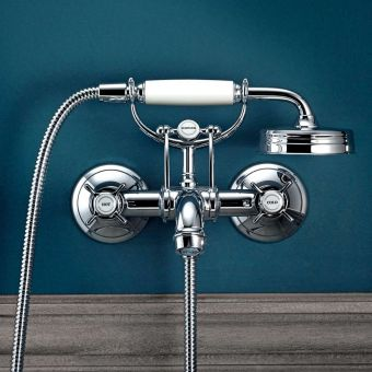 AXOR Montreux Wall Mounted Crosshead Bath Mixer with Shower Handset