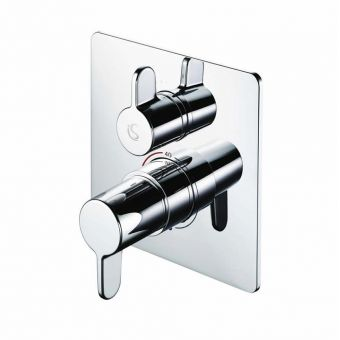 Ideal Standard Concept Freedom Easybox Slim Thermostatic Shower and Bath Mixer Tap