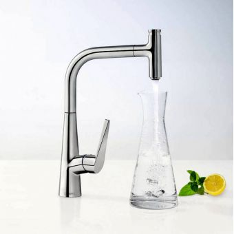hansgrohe Talis Select S 300 Kitchen Mixer with Pull-out Spout
