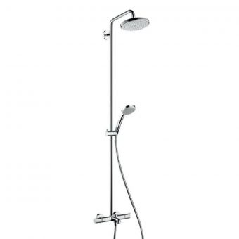 Hansgrohe Croma 220 Air Showerpipe With Bath Filler - 27223000