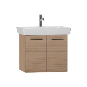 Vitra S20 650mm Double Door Vanity Unit with Basin - Golden Cherry