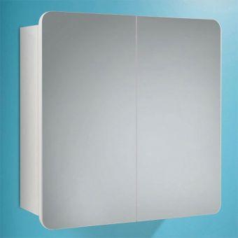 HIB Lanzo White Mirror 2 Door Cabinet