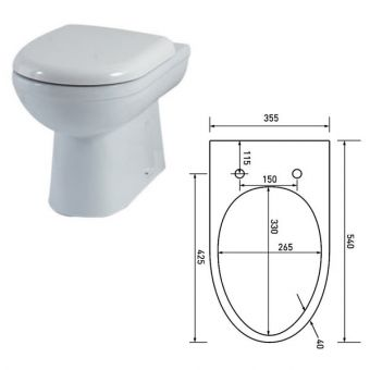 Phoenix Emma Deluxe Soft Close Toilet Seat Only