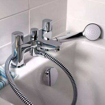 Ideal Standard Tempo Bath Mixer Tap with Shower Handset - B0731AA