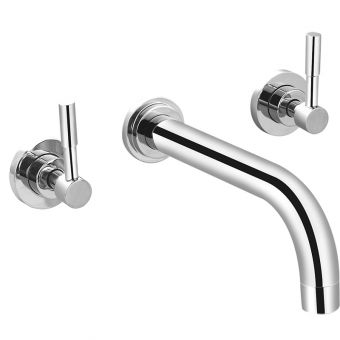Saneux Pascale 3 Hole Wall Mounted Basin Mixer Tap