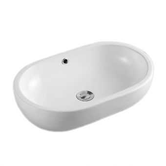 Saneux Podium Oval Countertop Washbasin with Overflow