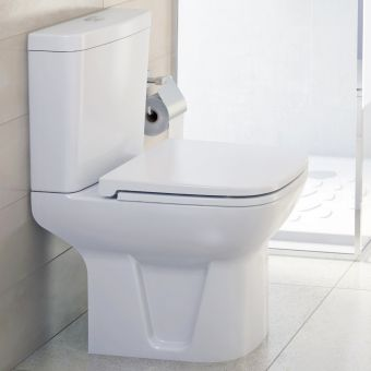VitrA S20 Close Coupled Open Back WC - 5513WH