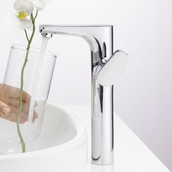 VitrA Z Line Tall Side Lever Basin Tap