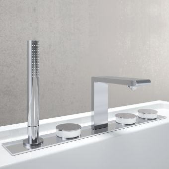 VitrA Memoria 5 Hole Bath Shower Mixer Tap