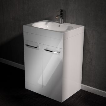 Saneux Austen Floor Standing Vanity Unit with Mineral Marble Washbasin  **LEGACY PRODUCT**