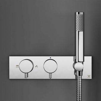Crosswater MPRO Chrome 2 Outlet Shower Valve with Handset