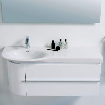 CHK Laufen Palace Curved Vanity Unit with Drawers and Door