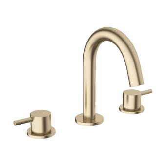 Crosswater MPRO Brushed Brass 3 Hole Basin Tap
