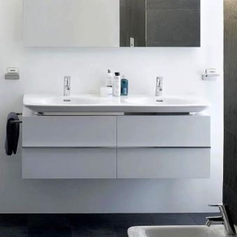 CHK Laufen Palace Vanity Unit with Drawers and Twin Basin