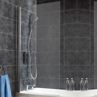 Saneux Agua Maison Square and Hinged Bath Screen