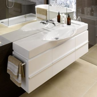 Laufen Palace Vanity Unit with Curved Basin