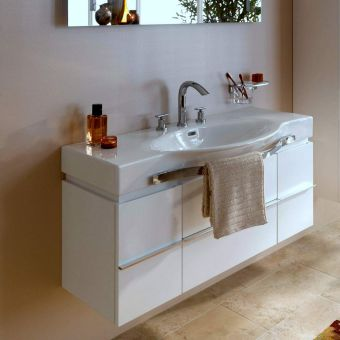 CHK Laufen Palace Vanity Unit with Curved Basin and Towel Rail