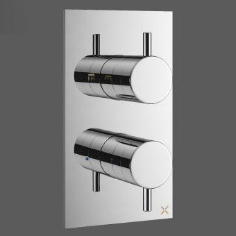 Crosswater MPRO Chrome 2 Outlet Shower Valve - PRO1510RC