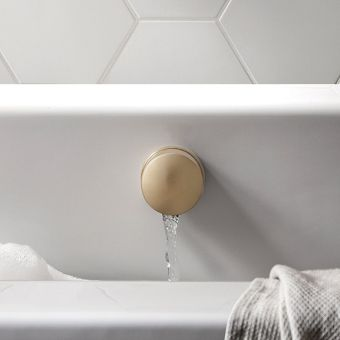 Crosswater MPRO Brushed Brass Bath Filler and Waste