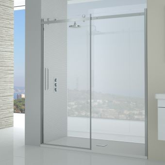 Saneux Steel Slider Shower Door