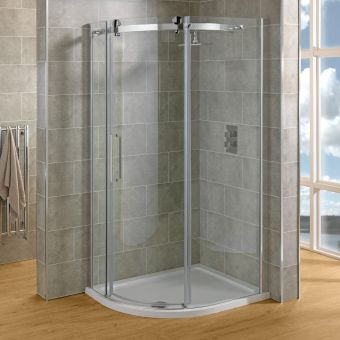 Saneux Steel Offset Quadrant Shower Enclosure