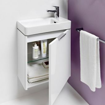 Laufen PRO S Cloakroom Basin and Base Vanity Unit - 4021021102611