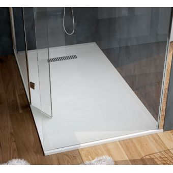 Saneux L25 Linear Stone Resin Rectangular Shower Tray
