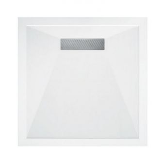 Saneux L25 Linear Stone Resin Square Shower Tray
