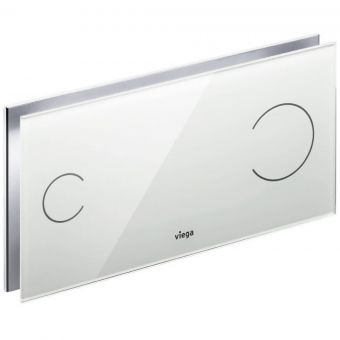 Viega Visign for More 100 Glass Dual Flush Plate