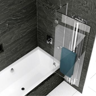 Kudos Inspire 2 Panel Out Swing Bath Screen - Right Hand