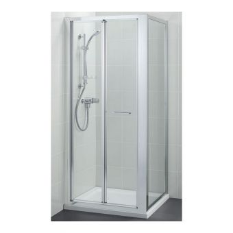 Ideal Standard Kubo 760mm BiFold Shower Door and 760mm Side Panel