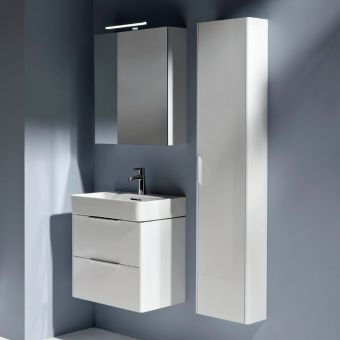 Laufen Base Reduced Depth Tall Cabinet with Side Panels - 4026421102611