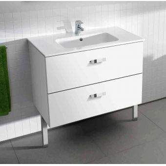 Roca Victoria Basic 800mm Vanity Unit + Basin - White Gloss