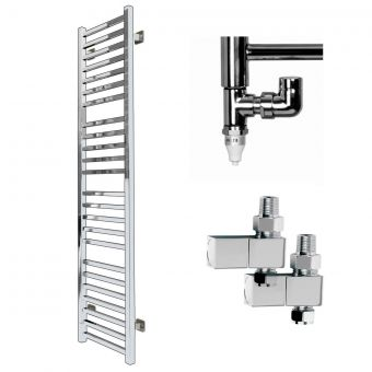 SBH Mega Slim Square 1600x360mm Radiator, Element + Valves