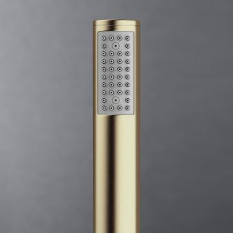 Crosswater MPRO Brushed Brass Deck Shower Handset and Hose