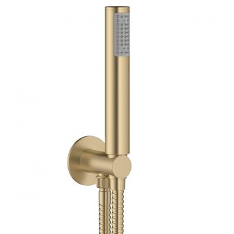 Crosswater MPRO Brushed Brass Handset and Hose with Wall Outlet
