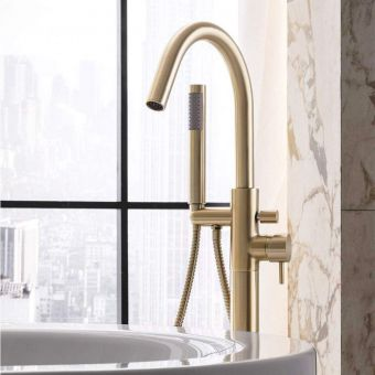 Crosswater MPRO Brushed Brass Bath Shower Mixer Tap