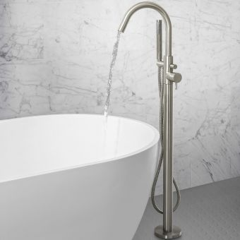 Crosswater MPRO Brushed Steel Bath Shower Mixer Tap