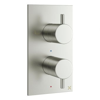 Crosswater MPRO Brushed Steel 2 Outlet Bath and Shower Valve