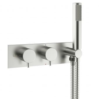 Crosswater MPRO Brushed Steel 2 Outlet Shower Valve with Handset