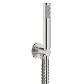 Crosswater MPRO Brushed Steel Handset and Hose with Wall Outlet