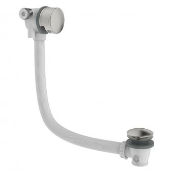 Crosswater MPRO Brushed Steel Bath Filler and Waste